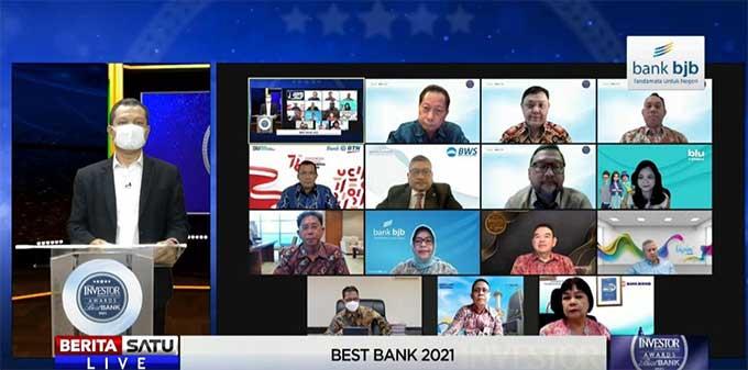 Bank BJB Raih Penghargaan Bank Terbaik 2021 Versi Majalah Investor