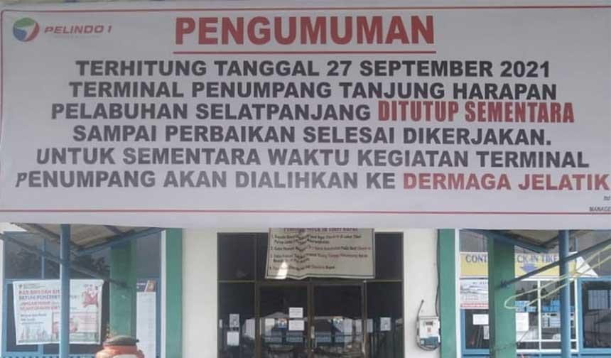 Tj Harapan Tutup, Aktivitas Penumpang Dialihkan ke Pelabuhan Jelatik