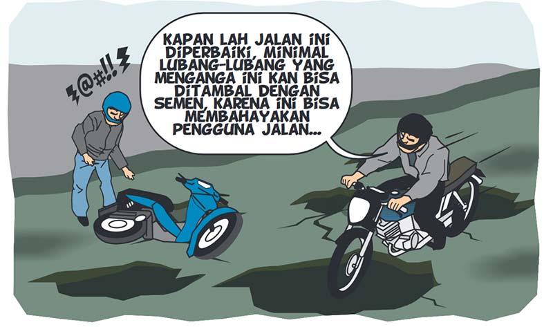 Warga Berharap Pemkab Perbaiki Jalan Mayang