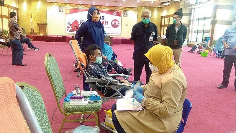 BMPD Riau Kumpulkan Lebih dari 250 Kantong Darah