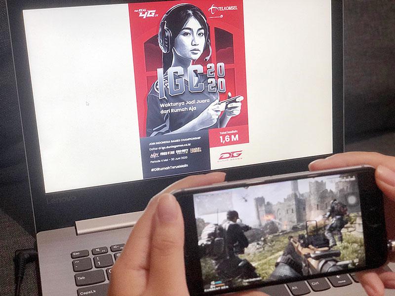 Dunia Games Telkomsel Gandeng Garena