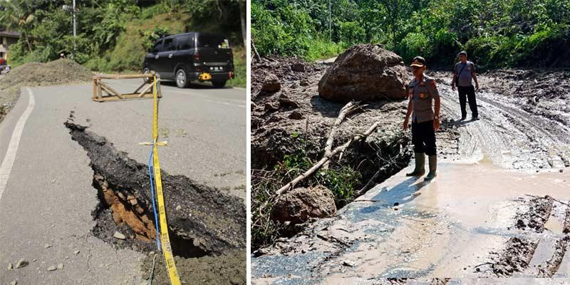 Longsor, Jalan Lintas Sumbar-Riau di Lima Puluh Kota Sempat Putus