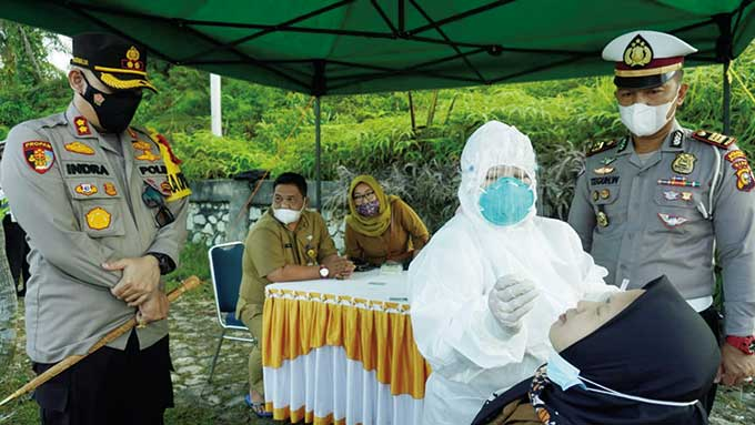40 Pengendara Jalani Rapid Antigen