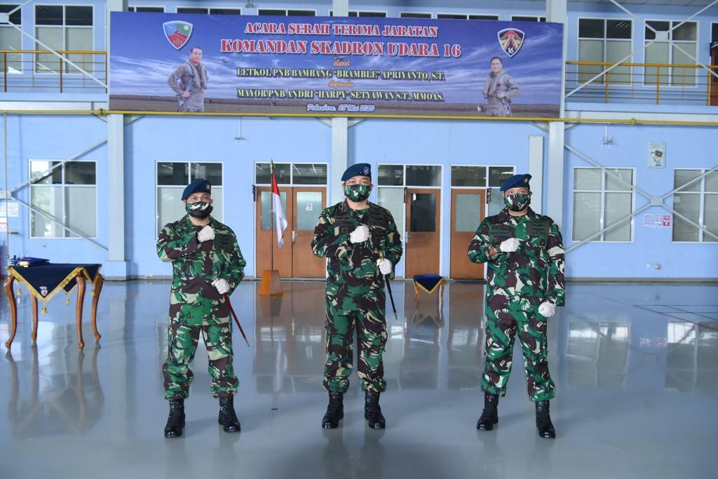 Mayor PNB Andri Setyawan Komandoi Skadron Udara 16 Lanud Roesmin Nurjadin Pekanbaru