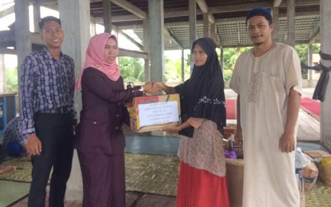 SMAN 14 Serahkan Donasi ke Panti Asuhan Al Hasanah