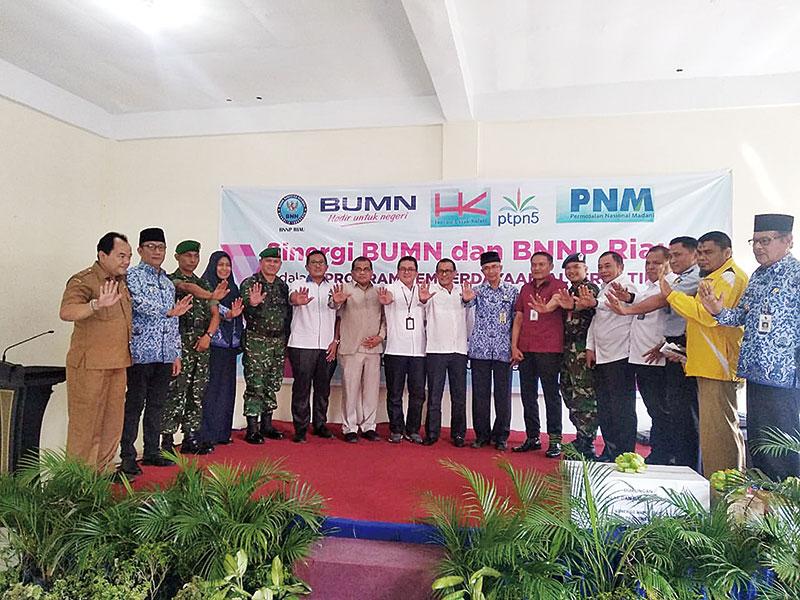Perangi Narkoba, BNNP Riau Bersama BUMN Bersinergi