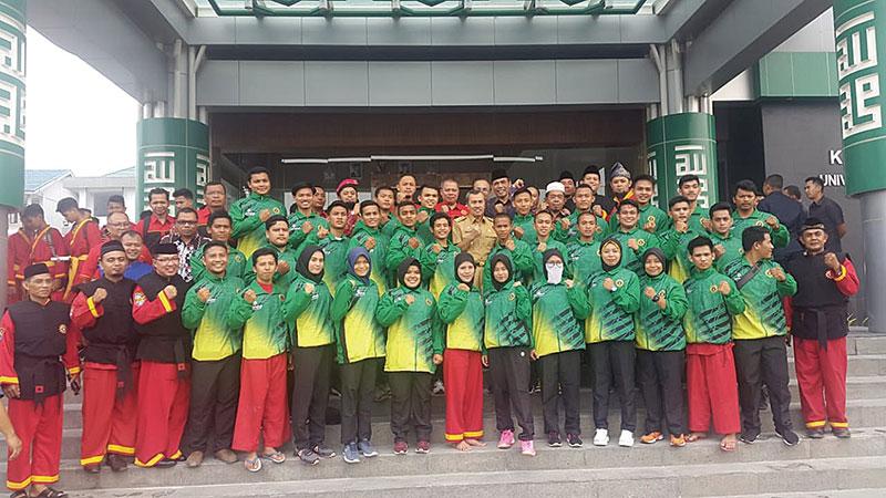 Dilepas Gubri, Kontingen Tapak Suci Riau Ikuti Kejuaraan Dunia