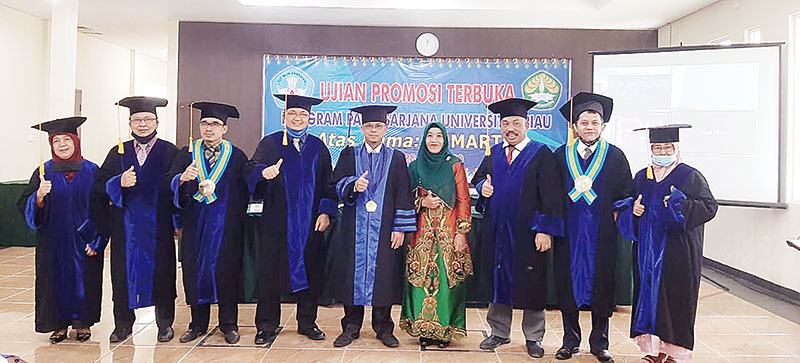 Dr Sumarto, Gelar Doktor Ke-5 Faperika dan Ke-62 di PPs Unri