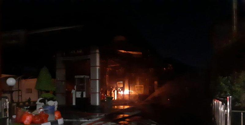 Kebakaran di SPBU Diduga Berasal dari Frekuensi HP