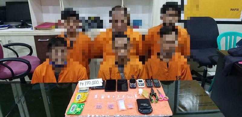 Enam Pelaku Narkoba Ditangkap