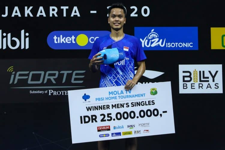 Taklukkan Shesar Hiren Rhustavito, Anthony Ginting Juara