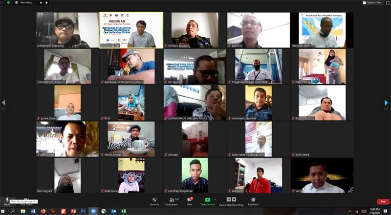 SKK Migas Sumbagut-KKKS Wilayah Riau Gelar Webinar Jurnalistik