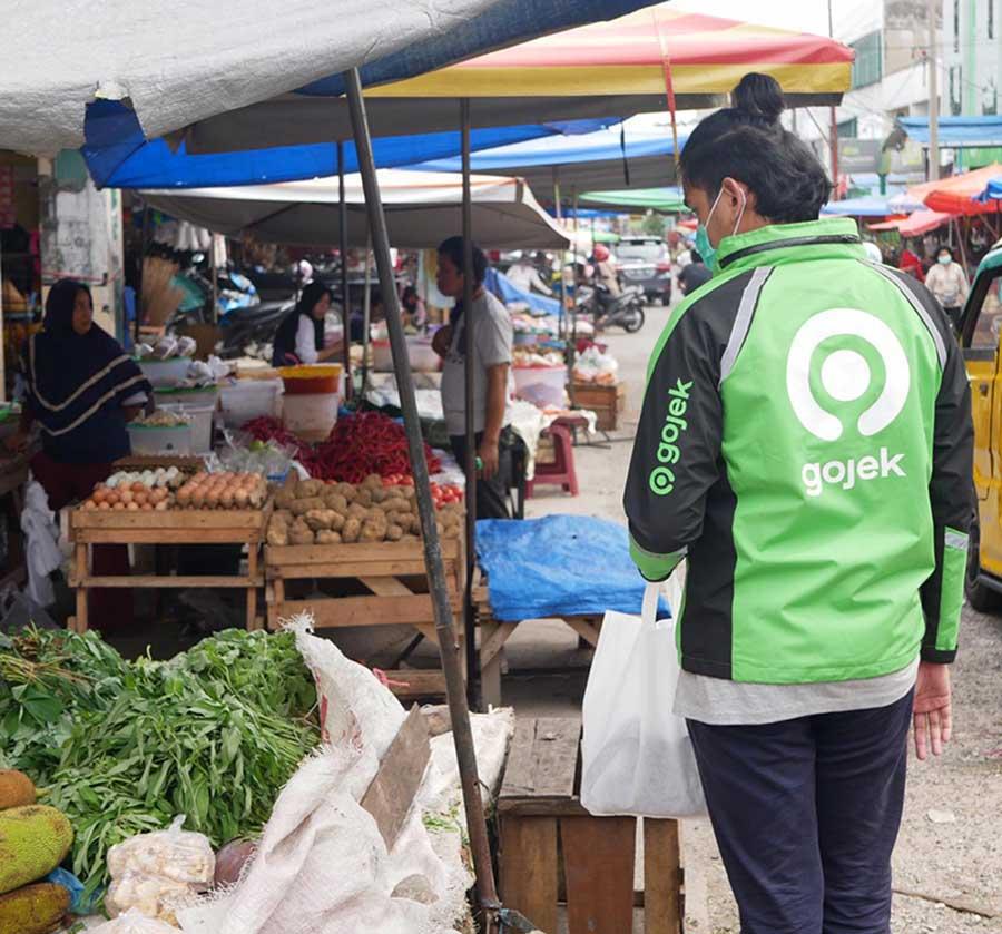 Belanja di 12 Pasar Tradisional di Pekanbaru Bisa Online Pakai Mitra Gojek