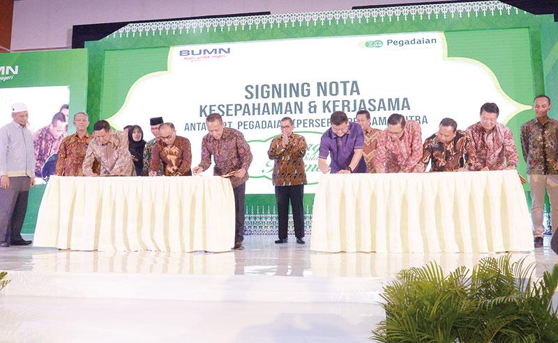 Pegadaian Jalin Kerja Sama dengan 17 Perusahaan dan 26 Instansi di Riau