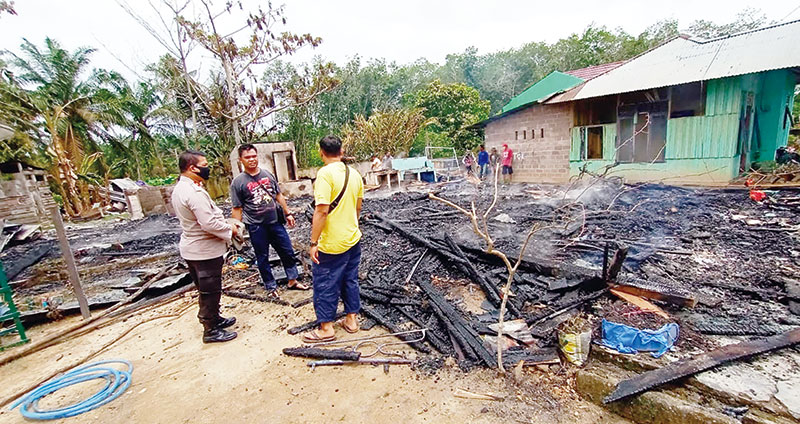 Tiga Rumah dan Satu Warga Hangus Terbakar