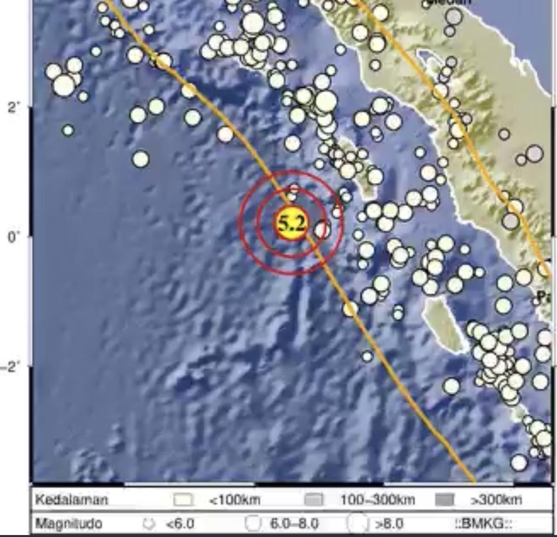Gempa Nias Barat Dimutakhirkan Menjadi M 6,7, Gempa Susulan Berulang