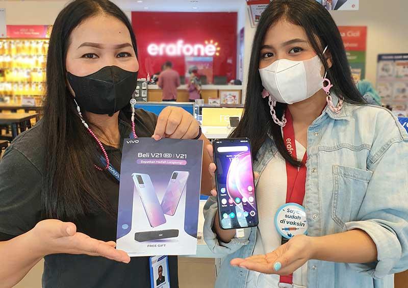 Beli Vivo V21 dan V21 5G Dapatkan Gratis Speaker