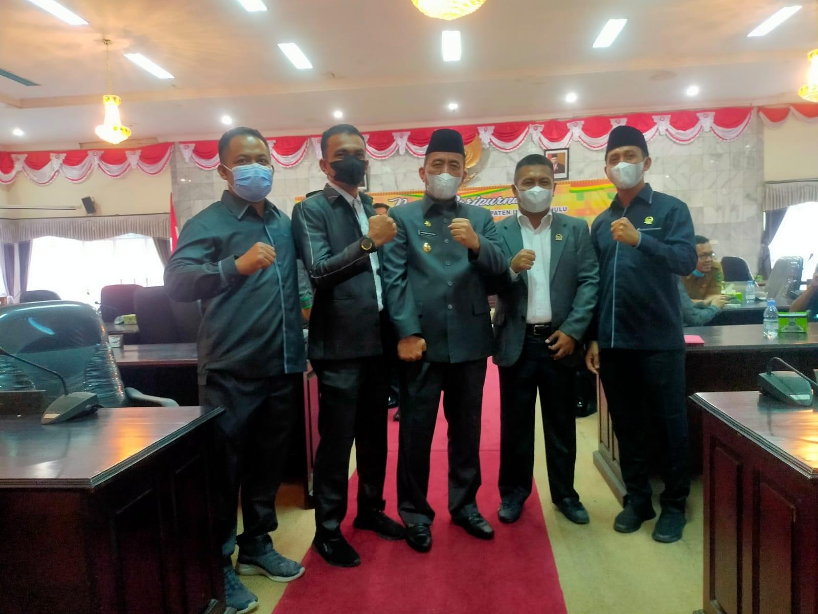DPRD Inhu Paripurnakan Pergantian Ketua Dewan