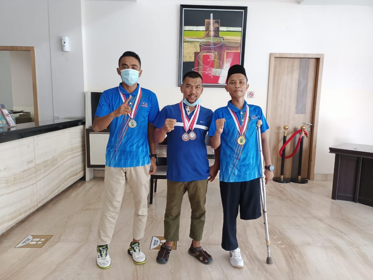Mandiri Raih Prestasi, Tiga Atlet Difabel Malah Harumkan Nama Meranti
