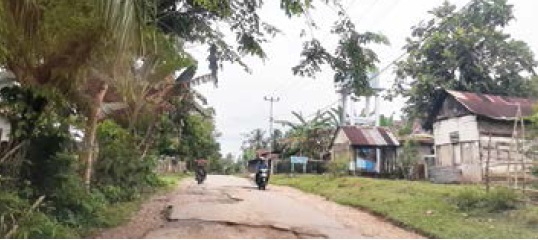 Kerusakan Jalan Simandolak-Pulau Ingu Ganggu Transportasi