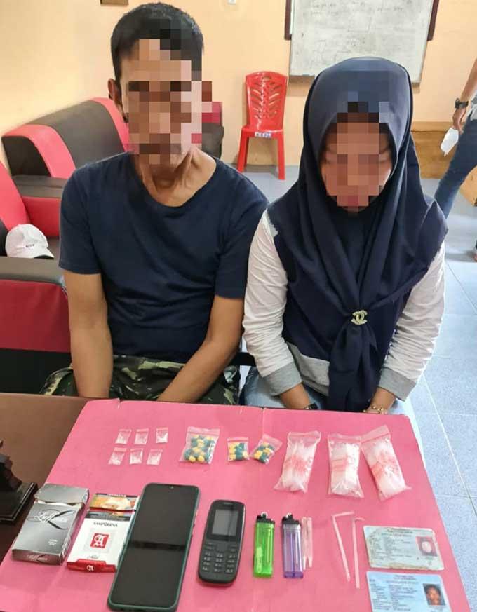Suami Istri Tertangkap Miliki Sabu dan Puluhan Pil Ekstasi