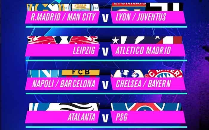 Partai Big Match Akan Tersaji di Perempatfinal Liga Champions