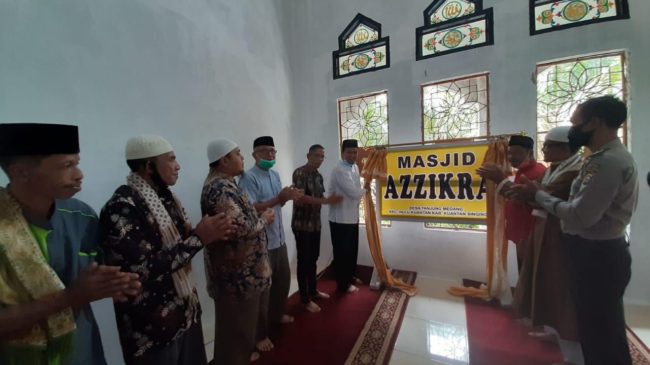 Ketua DPRD Kuansing Resmikan Masjid di Hulu Kuantan