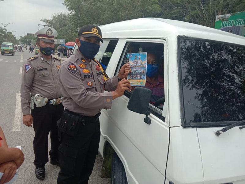 Polres Pelalawan Jaring 211 Pelanggar Lalu Lintas