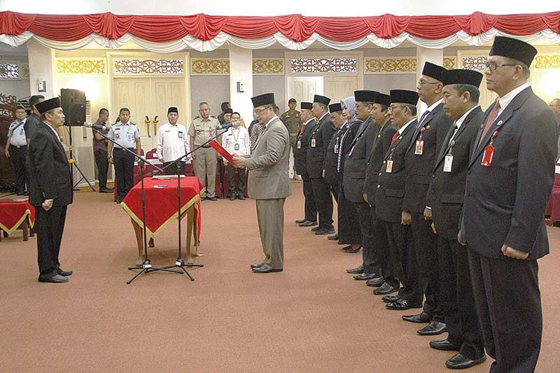 Gubernur Riau Lantik 116 Orang Eselon III dan IV
