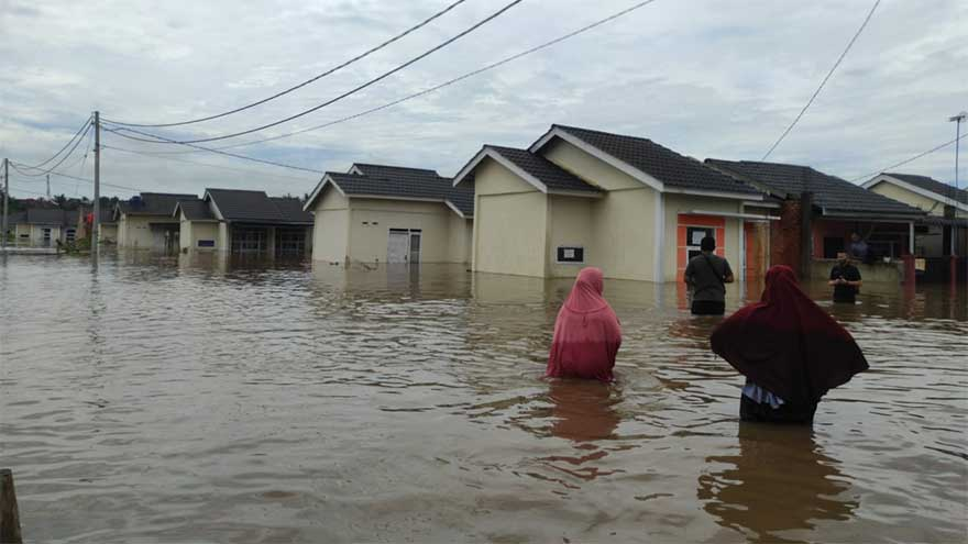 Hujan Deras Guyur Pekanbaru, Banjir Rendam Tiga Perumahan