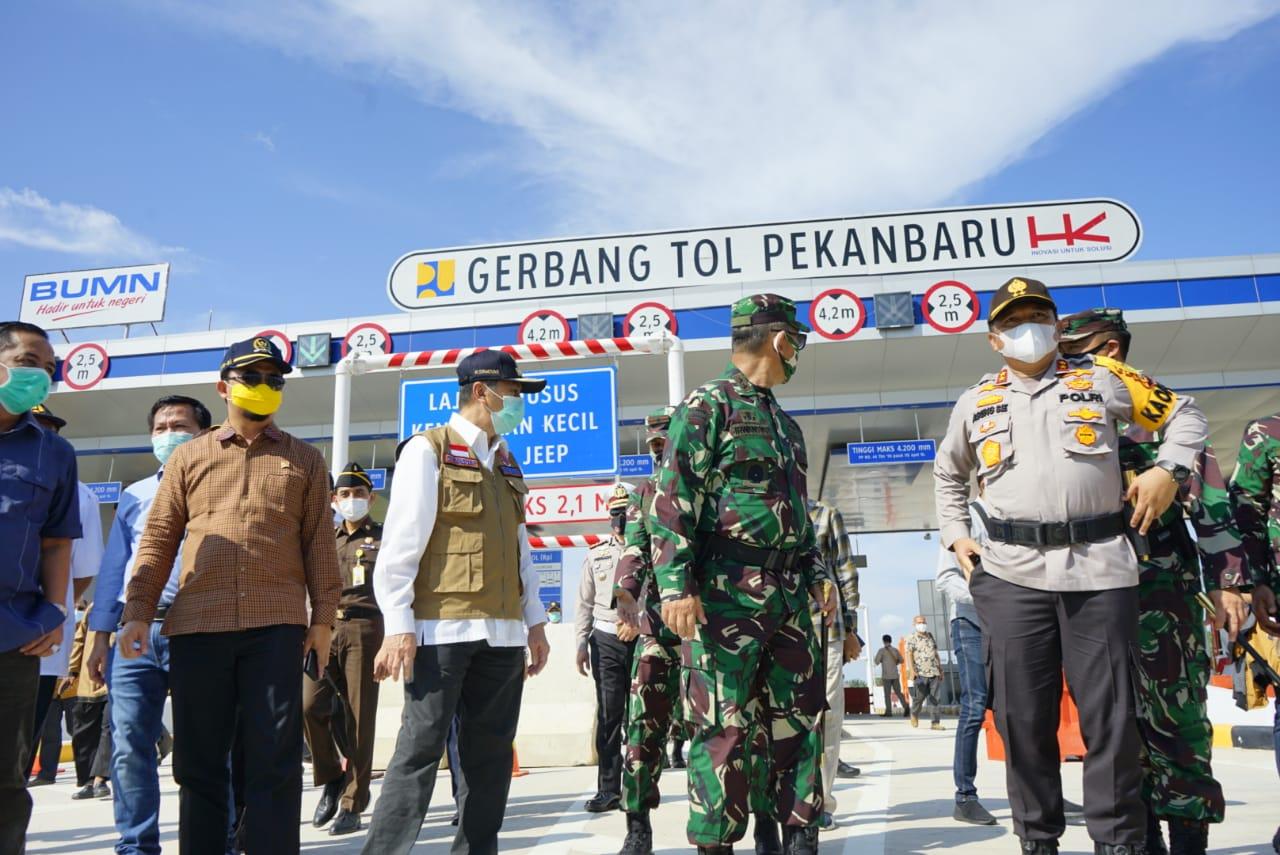 Tinjau Tol Bersama Para Jenderal, Gubri Berharap Segera Diresmikan Jokowi