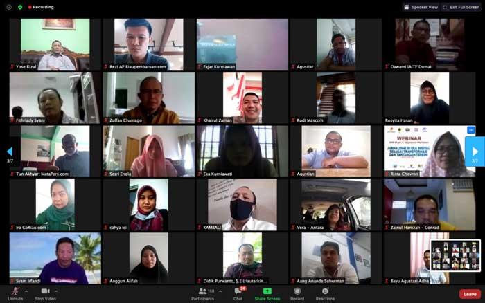 Hari Pertama Webinar SKK Migas-KKKS dan Wartawan Riau, 180 Peserta
