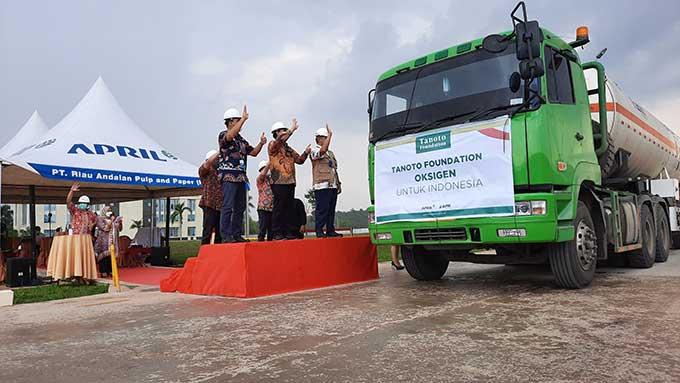Tanoto Foundation Donasikan 500 Ton Oksigen Produksi PT RAPP untuk Indonesia