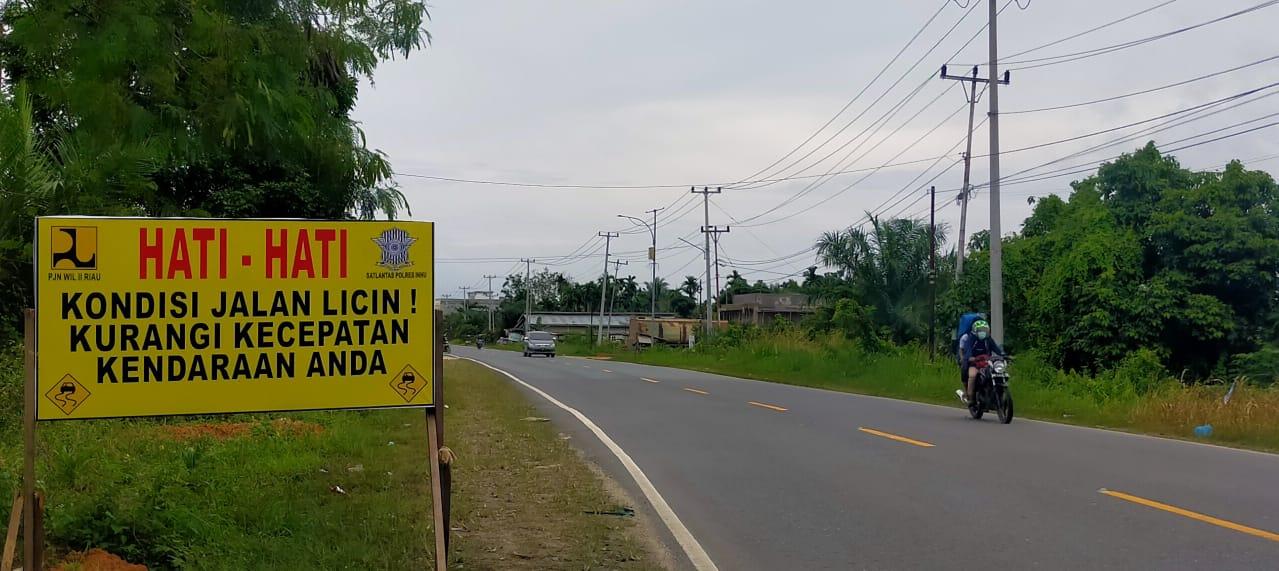 Sering Terjadi Kecelakaan, Polres Inhu Surati Dinas PUPR