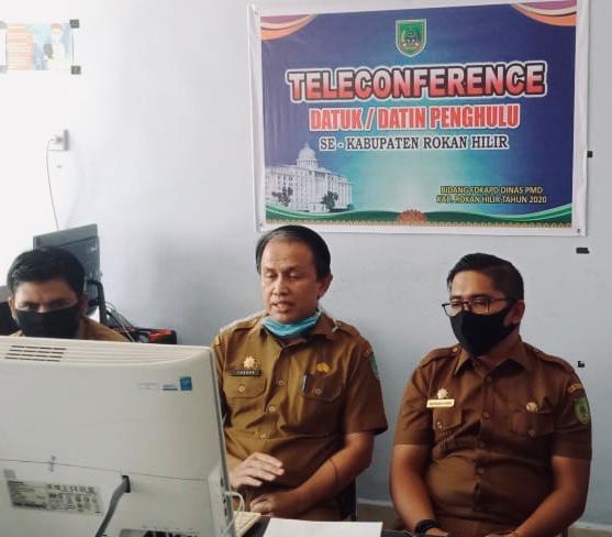 Kadis PMD Rohil Gelar Teleconference dengan Datuk/Datin Penghulu