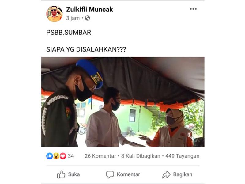 Ketua KPU Sumbar Dilarang Masuk Kota Padang