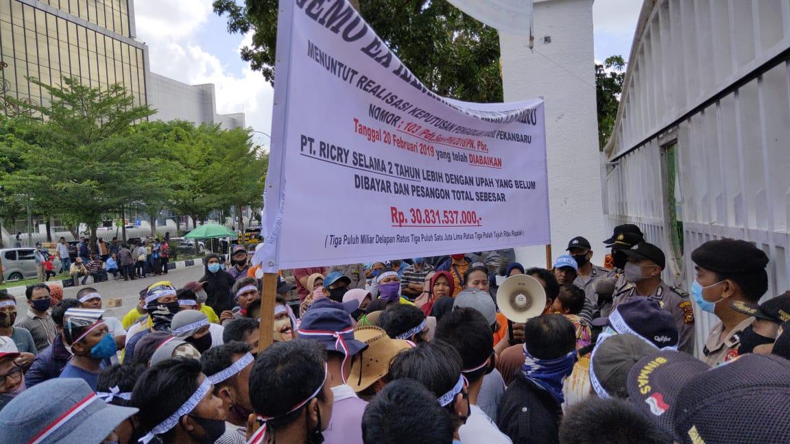 Disnakertrans Riau Fasilitasi Tuntutan Mantan Karyawan PT Ricry