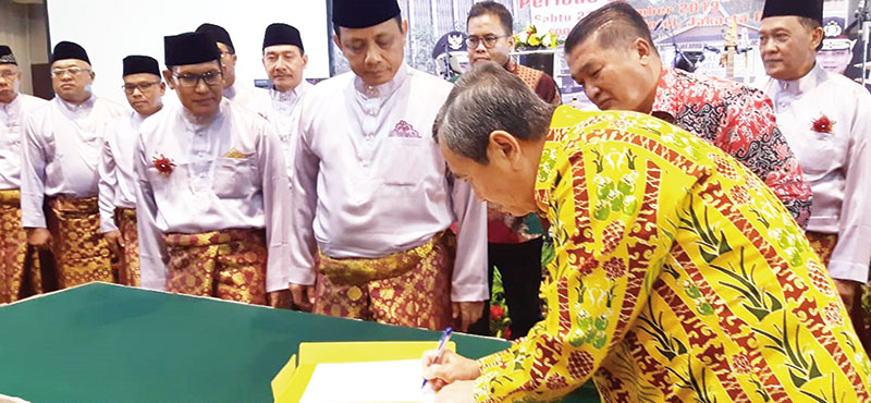 Gubri Lantik Gatot Jadi Ketua Umum PMRJ