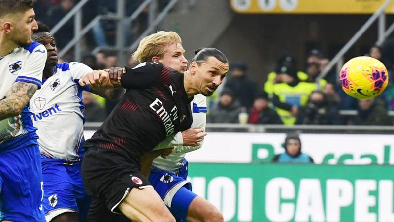 Meski Turunkan Ibrahimovic, Milan Ditahan Sampdoria