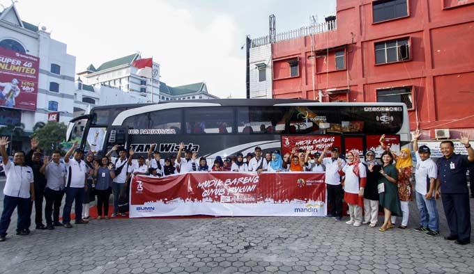 Bank Mandiri Berangkatkan 18.790 Pemudik ke Kampung Halaman