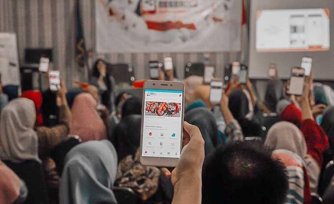 Telkomsel Digitalisasi Desa Kinali, Pasaman Barat