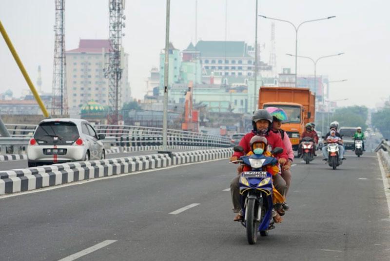 Jarak Pandang Pekanbaru Turun 4 KM