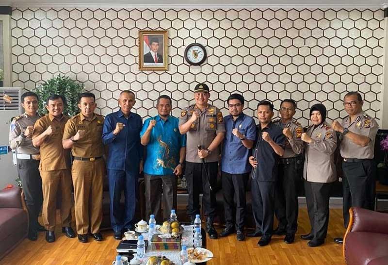 DPRD-Polresta Pekanbaru Terus Jaga Sinergi