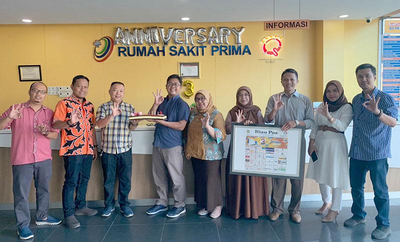 HUT Ke-3, RS Prima Pekanbaru Dapat Kejutan dari Riau Pos