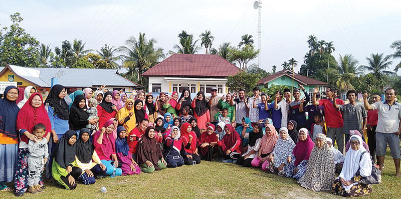 Program Germas Tim PKM UPP Disambut Antusias Warga Rambah Hilir