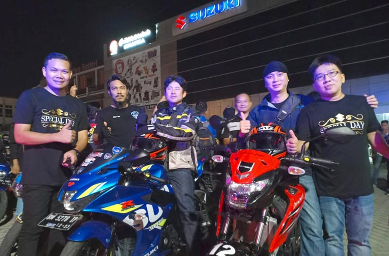 Ratusan Biker Ikuti Suzuki Saturday Night Riding Pekanbaru