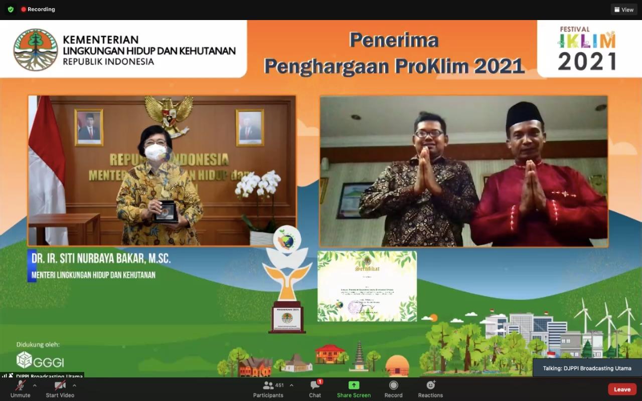2 Lokasi Binaan Pertamina Raih Tropi Proklim Utama KLHK 2021