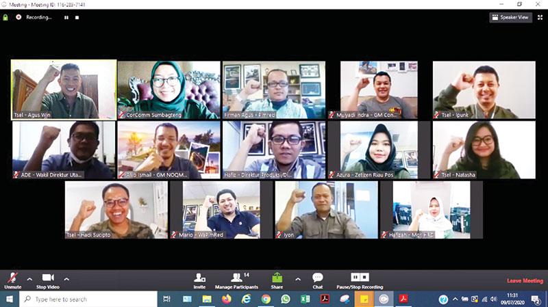 Riau Pos dan Telkomsel Silaturahmi Virtual