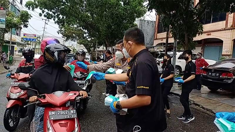 PSMTI Bagikan 2.000 Masker