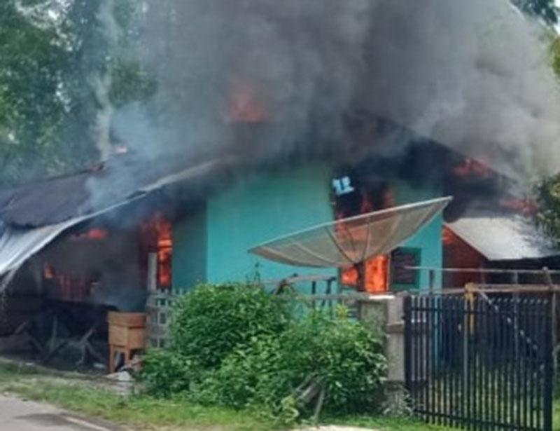 Satu Rumah di Sungai Manau Hangus Dilalap Sijago Merah